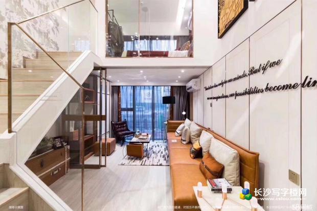 地铁富兴时代领寓loft复试精装公寓买/一层享两层